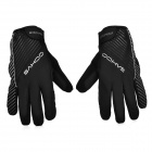 SAHOO Outdoor Cycling Anti-Slip Windproof Full-Finger Warm Gloves - Black (Size L / Pair)