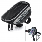 "B-SOUL B-015 Bicycle Handlebar Mounted Bag for 5.7"" Touch Screen Phone - Black + Silver (Size L)"