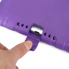 Silicone Back Case w/ Holder + Grip Handle for IPAD AIR 2 - Purple