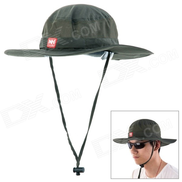 NatureHike Outdoor Fishing Quick-Dry Sun Block Hat Cap - Army Green