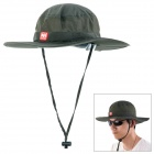 NatureHike Outdoor Fishing Quick-Dry Sun Block Hat Cap - Army Green (Free Size)