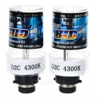 D2C 4300K Xenon Super Vision HID Vehicle Headlamp (Pair)