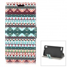 Tribal Pattern PU Leather Case for Huawei P6 - Multicolored