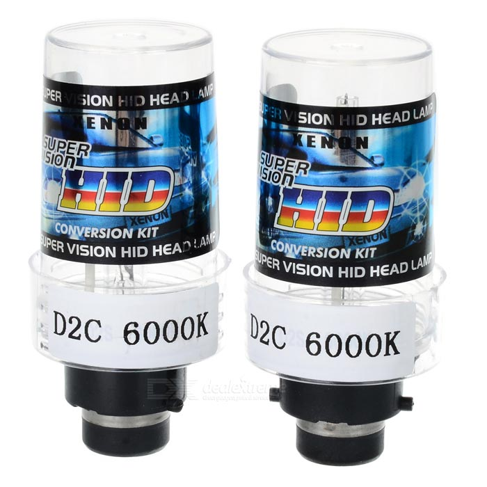 D2C 6000K Xenon Super Vision HID Vehicle Headlamp (Pair)