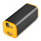 JZR-034 Universal USB + DC Output 7800mAh Li-ion Power Bank for Bike Flashlight - Orange + Black