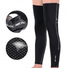 NUCKILY F005 Cycling Leg Warmers Sleeves - Black (XXL / Pair)