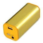 "Universal USB + DC Port ""4400mAh"" Rechargeable Li-ion Power Bank for Flashlight / Cellphone - Yellow"