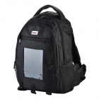 Conbrov ECE-002 Solar Battery Charger Backpack w/ 2.4W Solar Panel / 2200mAh Power Bank - Black (5L)