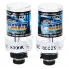 D2C 8000K Xenon Super Vision HID Vehicle Headlamp (Pair)