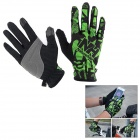 NatureHike Breathable Full-Finger Touch-Screen Cycling Gloves - Green + Black (L / Pair)