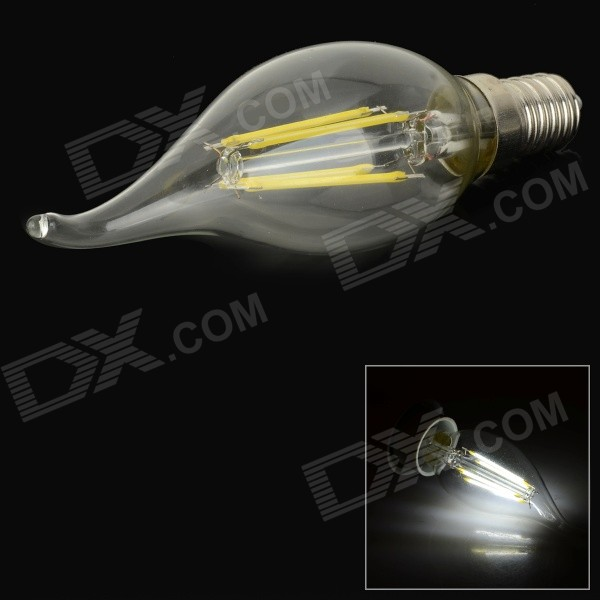E14 4W LED Filament Bulb White Light 6000K 350lm(AC 220V)