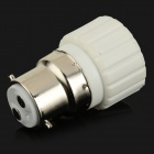 HH225 B22 a GU10 LED Light Lamp Bulb Adapter - Branco + Prata