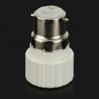 HH225 B22 to GU10 LED Light Lamp Bulb Adapter - White + Silver