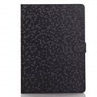 Diamond Look Pattern Protective PU Leather Case w/ Stand for IPAD AIR 2 / IPAD 6 - Black
