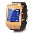 "No.1 G2 MTK2502 1.54"" Bluetooth V4.0 Smart Watch w/ Heart Rate, Pedometer, Camera - Golden"