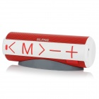 SLANG C06 2 x 3W Bluetooth V3.0 Wireless Speaker w / Mic / TF / AUX / Micro-USB - weiß + rot