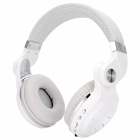 Bluedio T2+ Bluetooth v4.1 Rotatable Hi-Fi Stereo Headphones w/ TF / FM - White + Grey