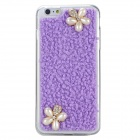 Jewel Encrusted TPU Mobile Phone Protection Shell Case for IPHONE 6 PLUS - Purple