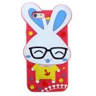 Happy Rabbit Style Protective Silicone Phone Back Case Cover for IPHONE 6 - Red + Multicolored