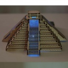 DIY Mayan Pyramid Colored Drawing Toy + Automatic Solar Light - Yellow