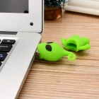 Cute Cartoon homem estilo USB 2.0 Flash Drive - verde + preto (8GB)