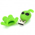 Cute Cartoon homem estilo USB 2.0 Flash Drive - verde + preto (4GB)
