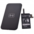 Wireless Charger Pad w/ Wireless Charging Receiver for Samsung Galaxy Note 4 - Black