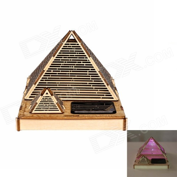 DIY Cheops Pyramid Colored Drawing + Automatic Solar Light - Yellow