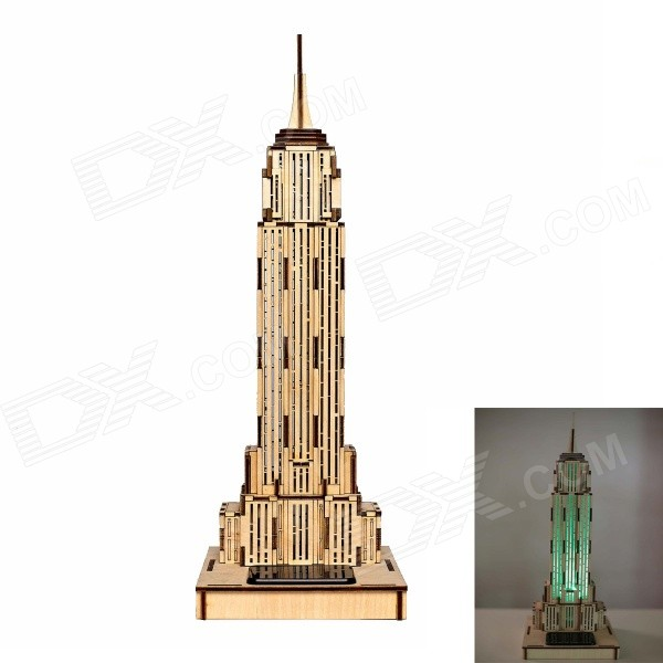 DIY Empire Building Colored Drawing + Automatic Solar Light - Yellow