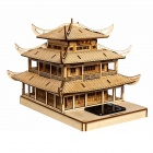 XiaoHaiTongXiang DIY Yueyang Tower Style Colored Drawing and Automatic Solar Light Sensation