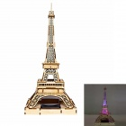 XiaoHaiTongXiang DIY Eiffel Tower Style Colored Drawing + Automatic Solar Light Sensation Toy