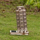 DIY Pisa Tower Colored Drawing + Automatic Solar Light Toy - Yellow