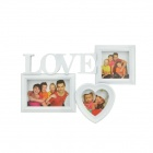 ABS Rectangle + Square + Heart Style Photo Frame - White