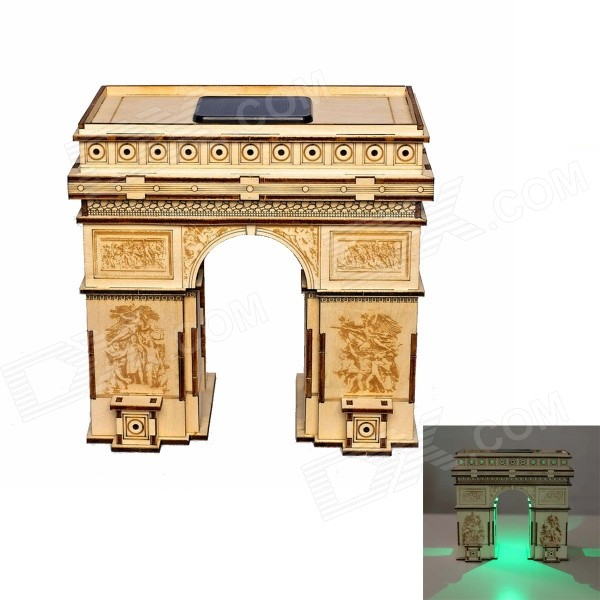DIY Arch of Triumph Colored Drawing + Automatic Solar Light - Yellow