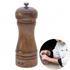 NEJE Herb Grinder Pepper Spice Oak Wooden Cruet Kitchen Tool - Brown
