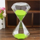 SL-004 Creative 30-Minute Hourglass / Sand Glass Timer - Green + Transparent