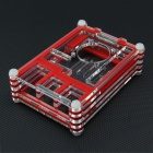 Protective Acrylic Case with Fan Hole for Raspberry Pi 2 B & B+ - Red