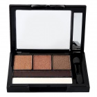 B55 Cosmetic Makeup 5-Color Eye Shadow Palette - Black + Multi-Colored