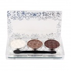B39 3-Color Light Garden Eye Shadow Palette ж / Brush - Прозрачный + Silver