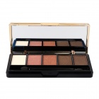 M661 Cosmetic Makeup 5-Color Eye Shadow Palette w/ Brush - Black + Golden