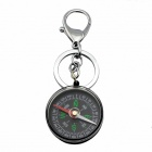 Multifunctional Compass Key Ring Keychain - Black + Silver + Multicolor