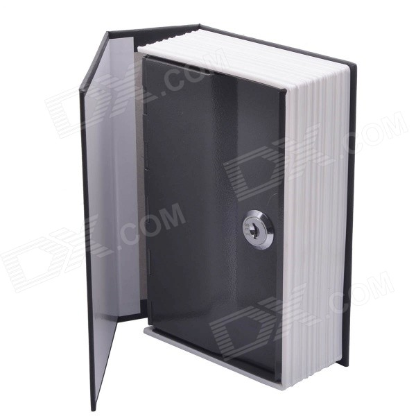 ZJ0104-1 Disguised Dictionary Style Security Safes Cash Stash Safe Box w /  Key Lock - Black