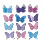 Double-layer Traceless Decoration Butterfly Stickers - Pink + Purple (12 PCS)