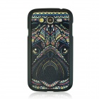 Bulldog Vein Pattern Hard Case for Samsung 9082 - White + Black + Multicolored