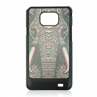 Elephant Vein Pattern Hard Case for Samsung 9100 - Black + Multicolored
