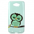 Sleeping Owl Pattern Protective TPU Back Case Cover for Motorola XT1225 MAXX - Green + Black