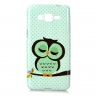 Sleeping Cat Pattern Protective TPU Back Case for Samsung Galaxy G530 / G5308W - Green + Black