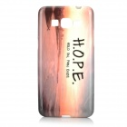 """""""HOPE"""" Patterned Protective TPU Back Case for Samsung Galaxy G530 / G5308W - Brown + Light Yellow"""