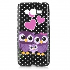 Owl Family Pattern Protective TPU Back Case for Samsung Galaxy G530 / G5308W - Black + Purple