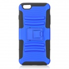 Protective ABS Back Case w/ Detachable Stand for IPHPNE 6 PLUS - Black + Blue
